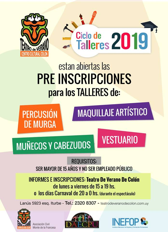 afiche talleres 2019 tvc